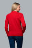 Women's patterned wool sweater made of Extra Fine Merino wool - Autumn Red - 3/3